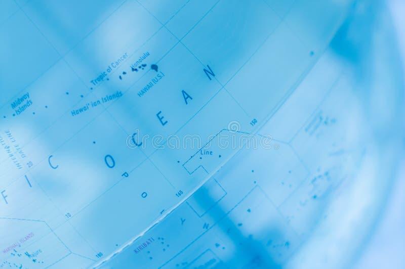 World map blue science technology. World map blue with science technology style stock photo
