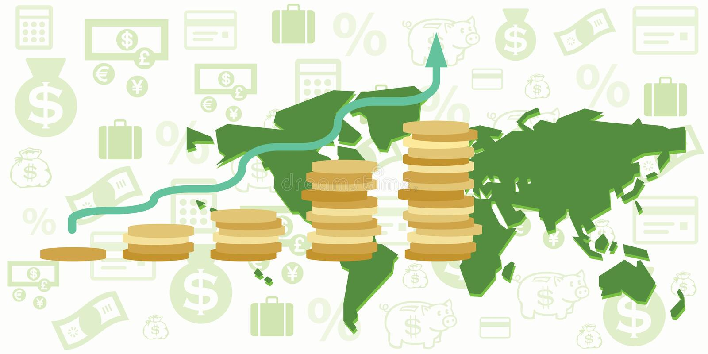 World map budget stock illustration