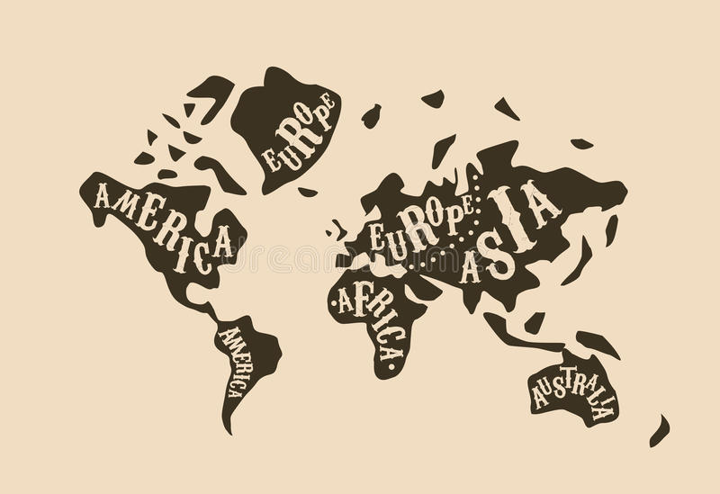 World map butcher cuts diagram vintage style vector stock vector download world map butcher cuts diagram vintage style vector stock vector illustration of america gumiabroncs Image collections