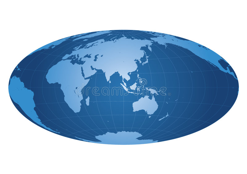 Download World map centered on Asia stock vector. Image of globe - 4699511
