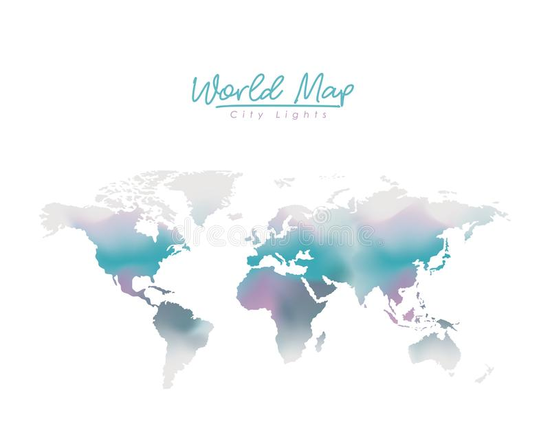 World map city lights in degraded purple to blue color silhouette download world map city lights in degraded purple to blue color silhouette stock vector illustration gumiabroncs Choice Image