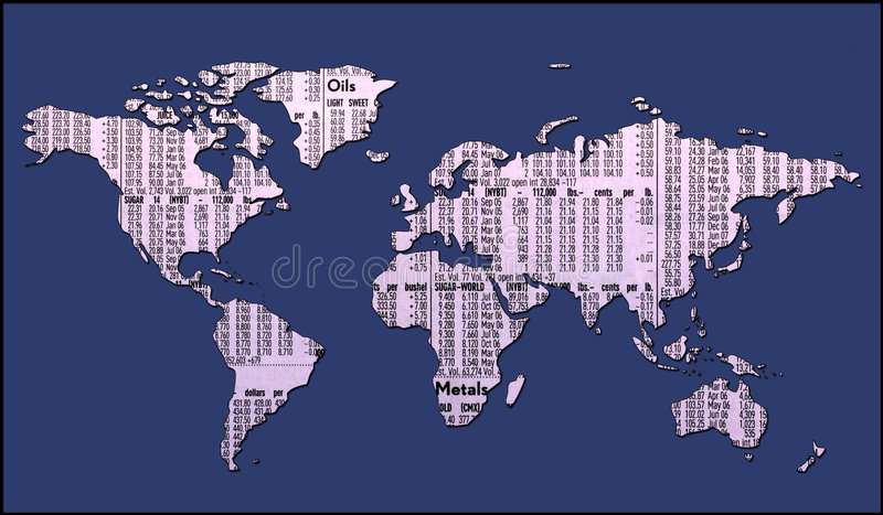 World Map With Clipping Path royalty free illustration
