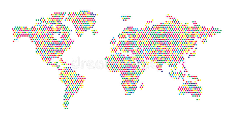 World map color dots stock vector illustration of gold 62933671 download world map color dots stock vector illustration of gold 62933671 gumiabroncs Images