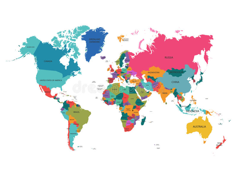 World map with colorful countries atlas eps10 vector file organized download world map with colorful countries atlas eps10 vector file organized in layers for easy gumiabroncs Choice Image