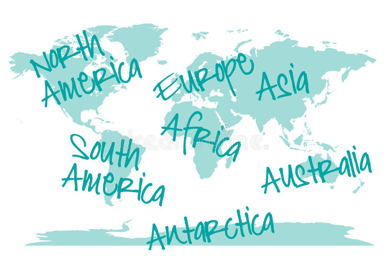 World map with continents vector stock vector illustration of download world map with continents vector stock vector illustration of europe graphic gumiabroncs Images