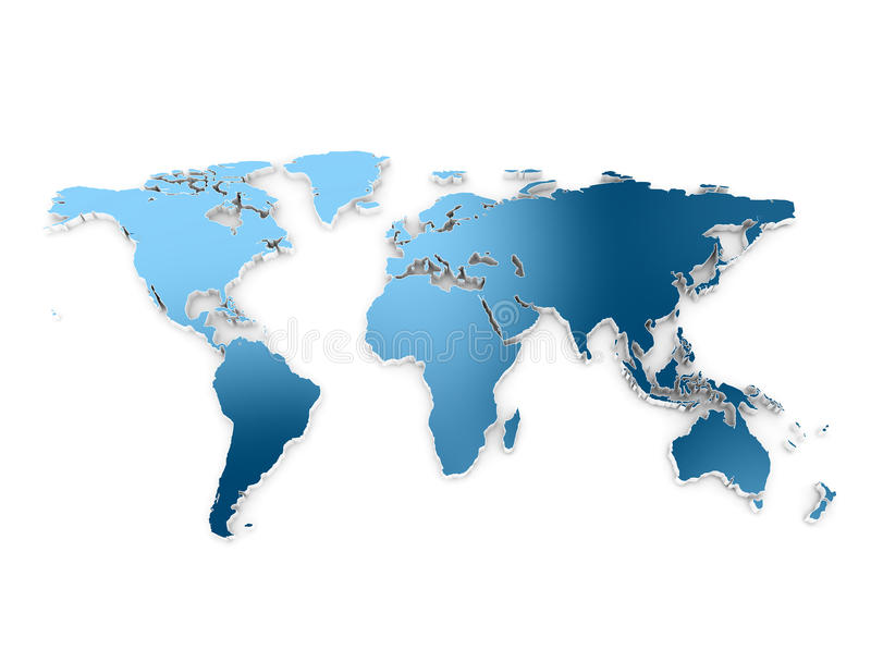 World map 3d stock photos