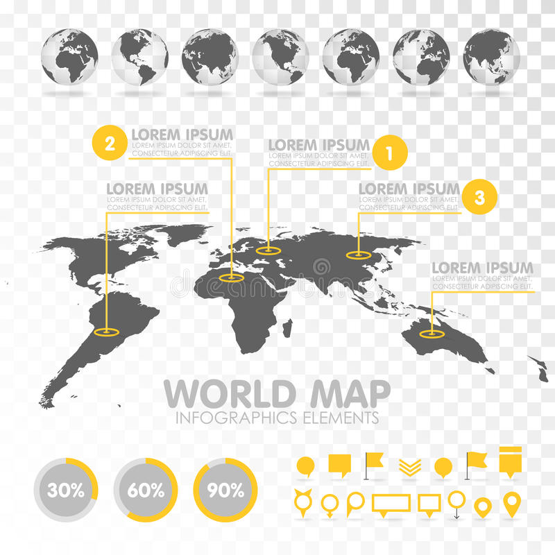 World map 3d with set of infographics elements stock vector world map 3d with set of infographics elements design information business graph and chart vector illustration gumiabroncs Image collections