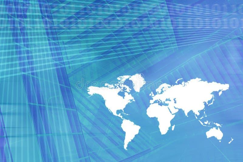 World Map Digital Economy Background vector illustration