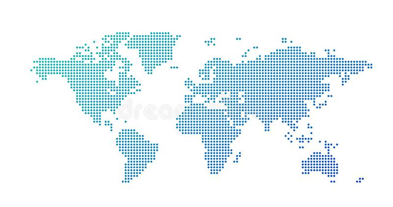 World map dotted style, vector illustration isolated on white background. World map dotted style, vector illustration isolated on white royalty free stock images