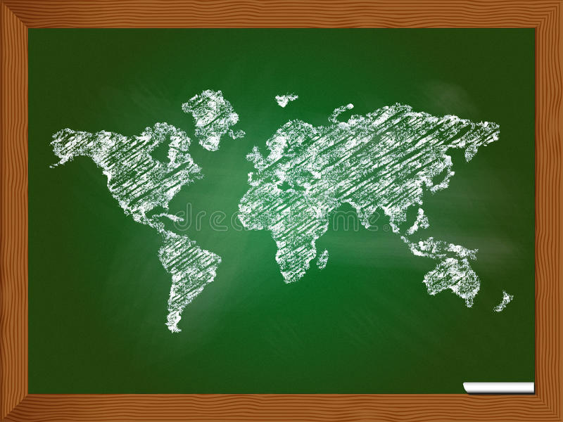 World map stock illustration illustration of chalk africa 43339962 download world map stock illustration illustration of chalk africa 43339962 gumiabroncs Images