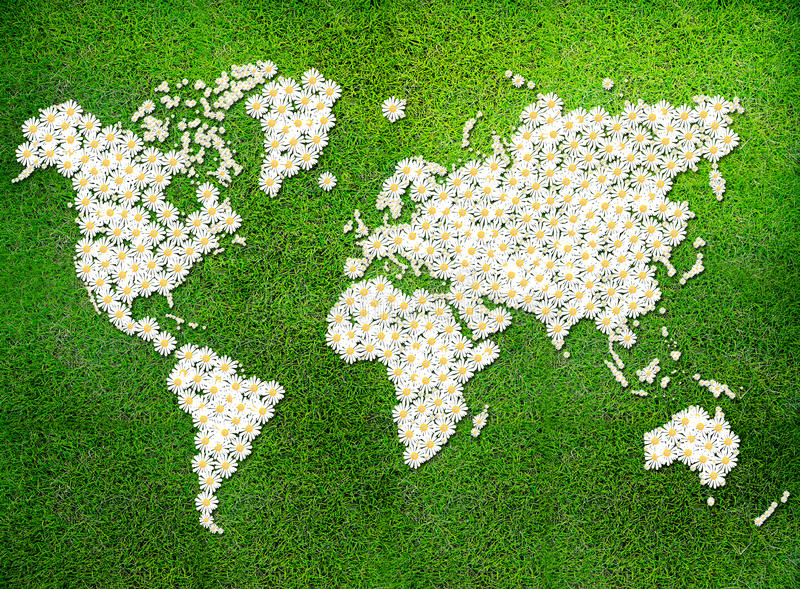 Download World Map (eco Green Grass) Stock Illustration - Image: 27271251