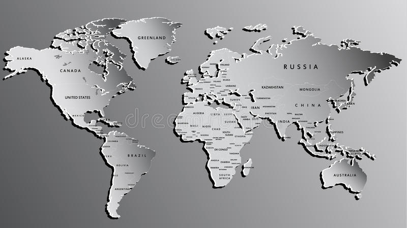 World map engraved on grey highly detailed stock illustration download world map engraved on grey highly detailed stock illustration illustration of high gumiabroncs Choice Image