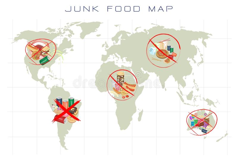 World map with fast food and take away food stock illustration download world map with fast food and take away food stock illustration illustration of mein gumiabroncs Gallery