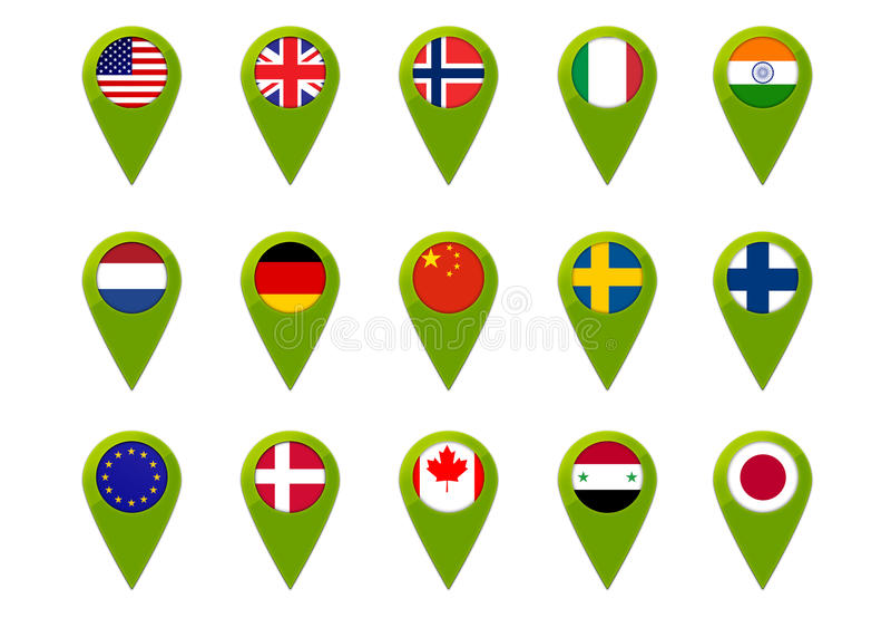 World map flag pins stock illustration image of netherlands download world map flag pins stock illustration image of netherlands 30771581 gumiabroncs Images