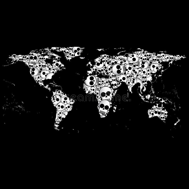 World map in the form of skulls background vector stock vector download world map in the form of skulls background vector stock vector illustration of nation gumiabroncs Image collections