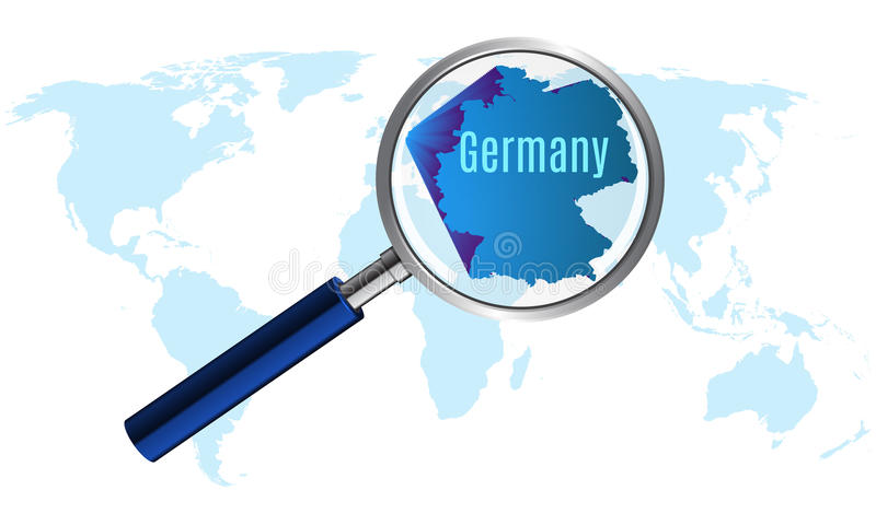 World map with germany magnified by loupe stock vector download world map with germany magnified by loupe stock vector illustration of lens world gumiabroncs Choice Image