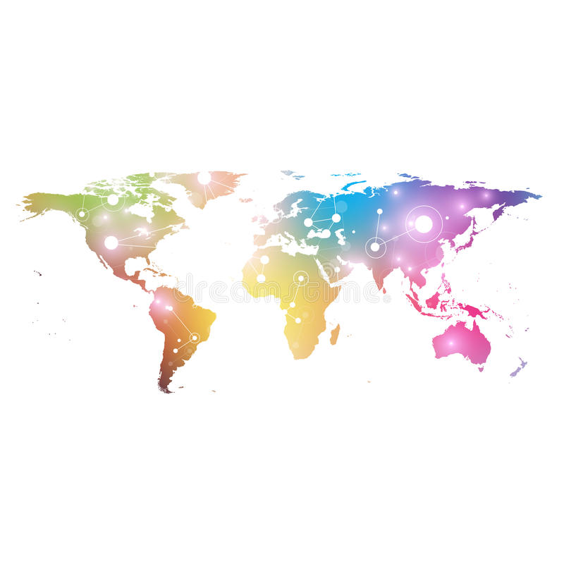 World map with global technology networking concept digital data download world map with global technology networking concept digital data visualization lines plexus gumiabroncs Gallery