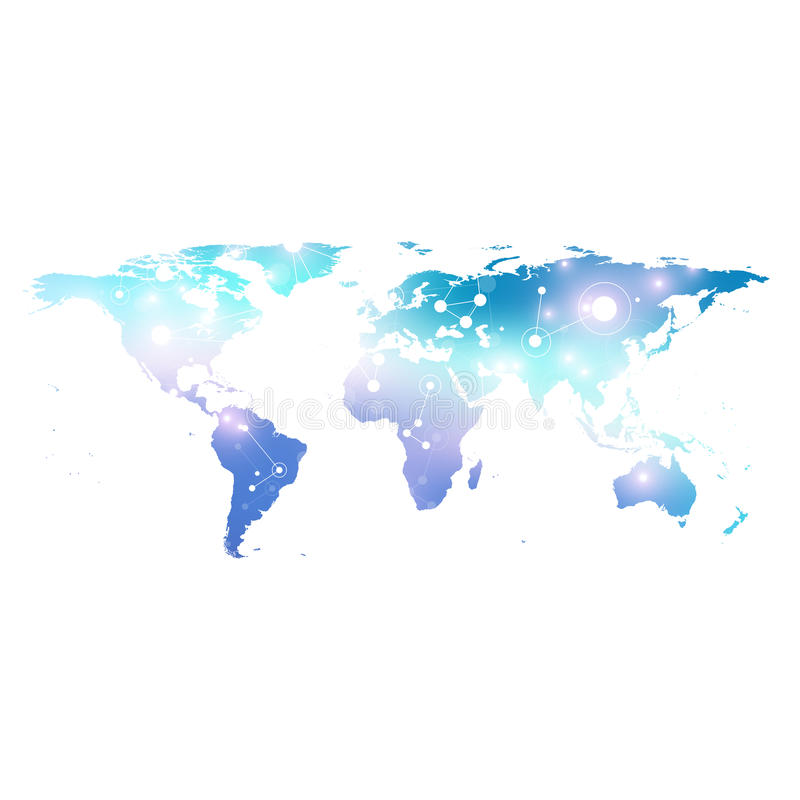 World map with global technology networking concept digital data download world map with global technology networking concept digital data visualization scientific cybernetic particle gumiabroncs Gallery