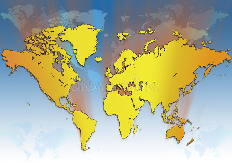 World Map - Global Travel Royalty Free Stock Photos