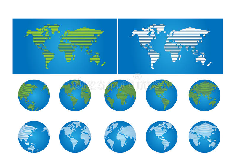 Download World map and globe stock vector. Illustration of unique - 18393978