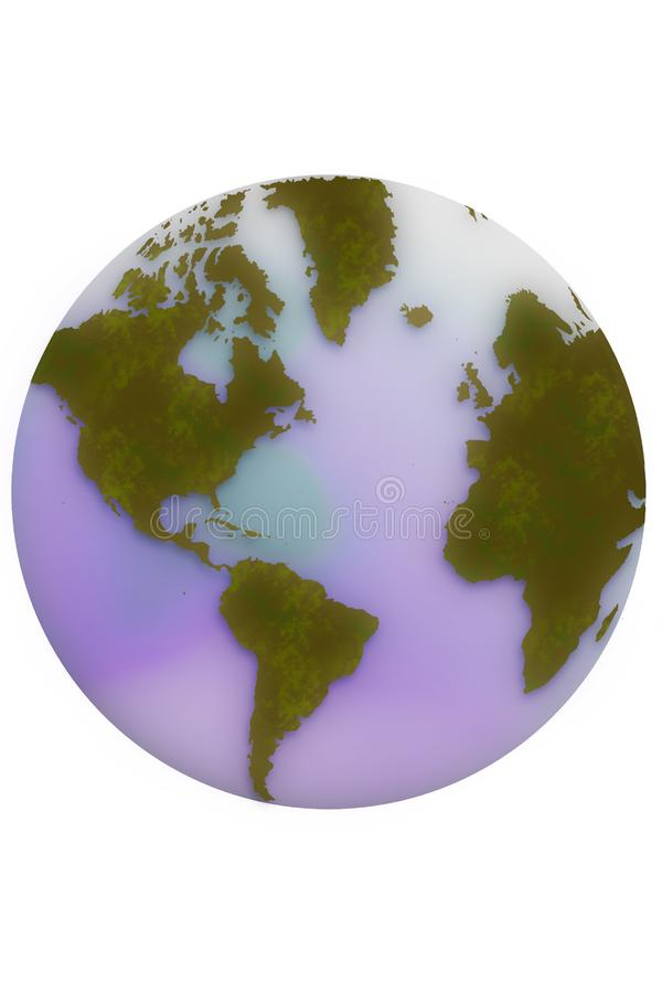 World map Globe royalty free stock photos