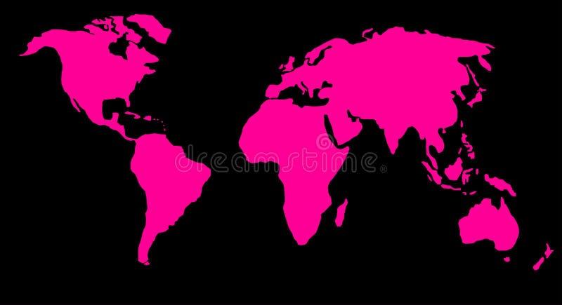 World map or globe stock photography