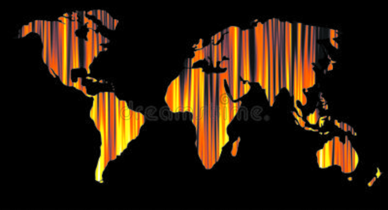 World map or globe background stock images