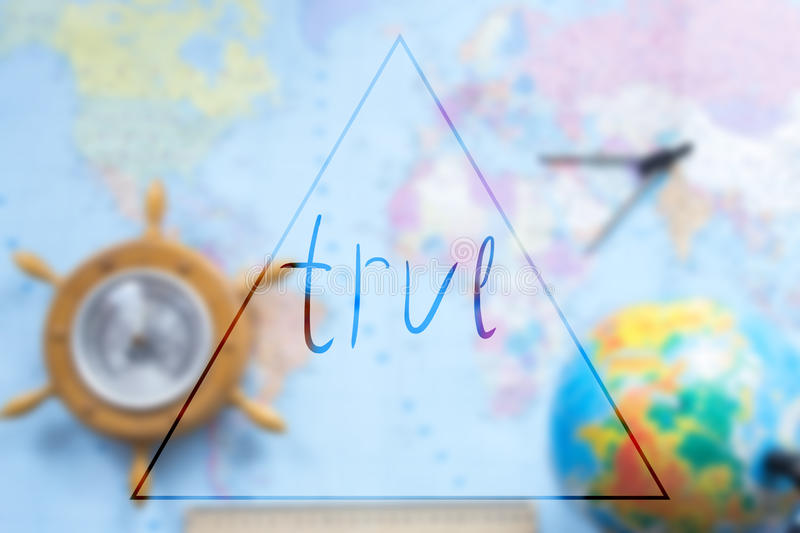 World map with globe blurred background with an inscription. World map with globe blurred background with an inscription royalty free stock photo