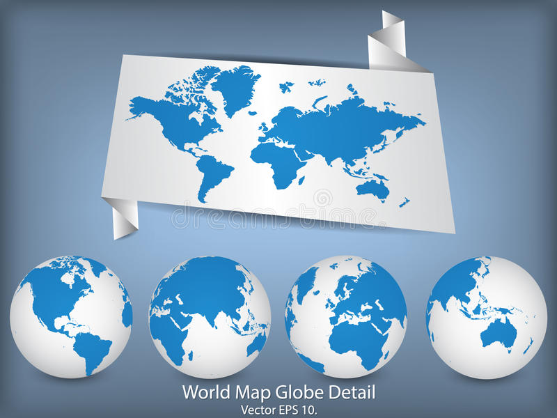 World map and globe detail stock vector illustration of countries world map and globe detail vector illustration eps 10 gumiabroncs Gallery