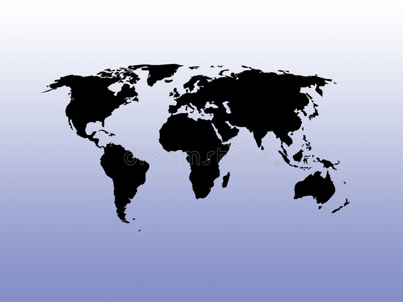 World map on a gradient background vector illustration