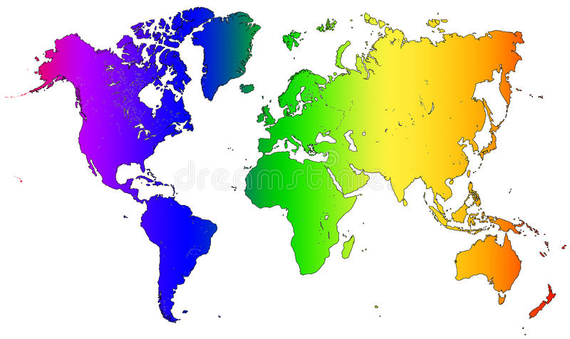 World map gradient rainbow black outline stock illustration download world map gradient rainbow black outline stock illustration illustration of graphic design gumiabroncs Gallery