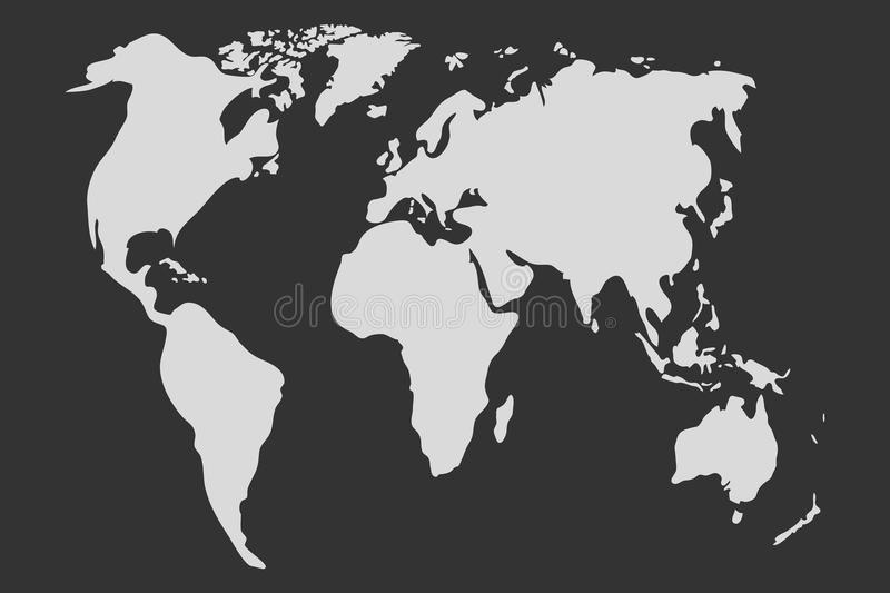World map in gray world map icon stock illustration illustration download world map in gray world map icon stock illustration illustration of isolated gumiabroncs Image collections
