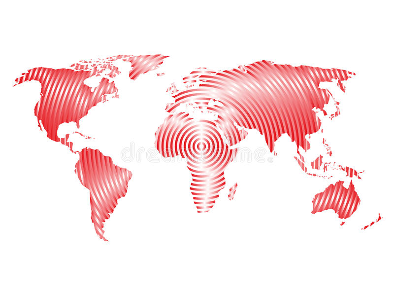 World map of grey concentric rings on white background worldwide download world map of grey concentric rings on white background worldwide communication radio waves concept gumiabroncs Images