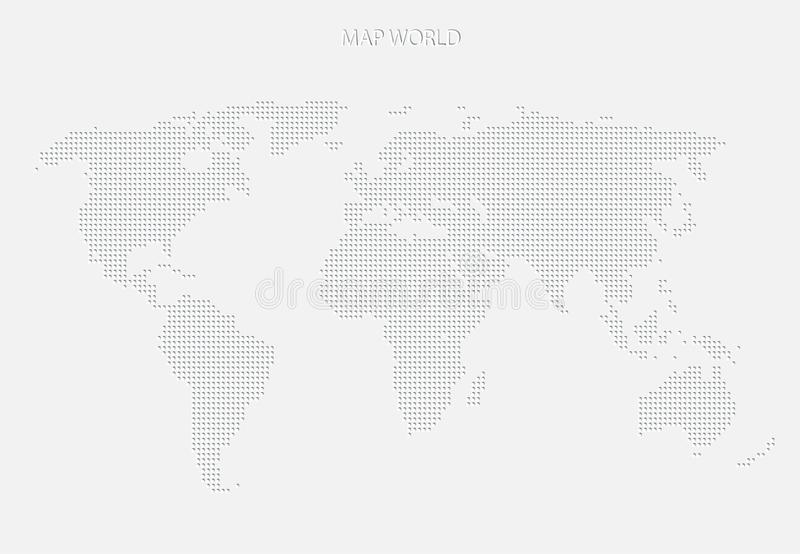 World map of grey dots modern design royalty free illustration