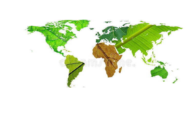 Download World Map - Help Africa Leafs Texture Stock Illustration - Image: 12689734