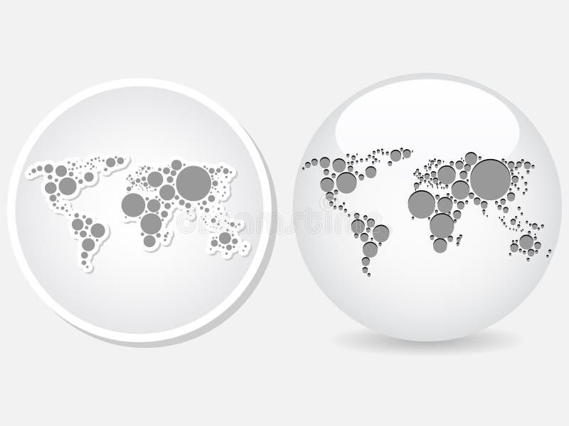 World map icon stock vector illustration of round texture 18102748 download world map icon stock vector illustration of round texture 18102748 gumiabroncs Gallery