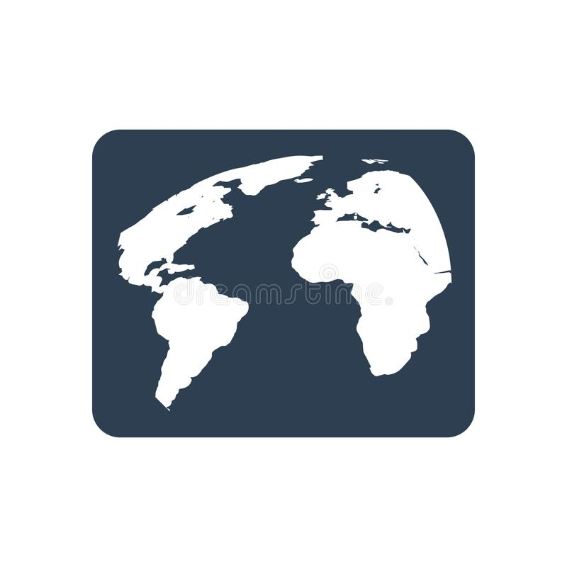 World map icon. Beautiful, Meticulously Business Icon use for any kind of web and print design royalty free illustration