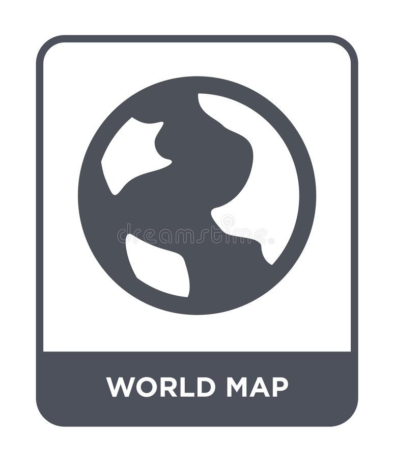 World map icon in trendy design style. world map icon isolated on white background. world map vector icon simple and modern flat. Symbol for web site, mobile royalty free illustration
