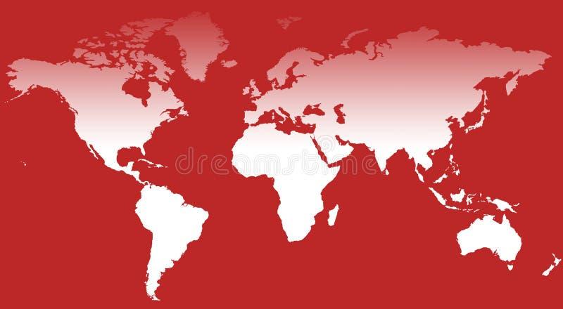 World Map III. A world map background illustration stock illustration