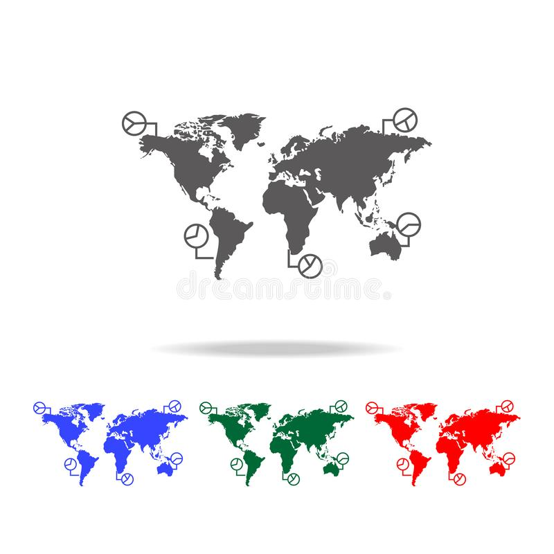 World map infographics icon. Elements of world statistics icons. Premium quality graphic design icon. Simple icon for websites,. Web design, mobile app on white royalty free illustration