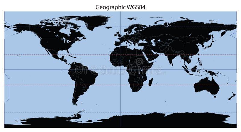World map latitudelongitude stock vector illustration of download world map latitudelongitude stock vector illustration of continent europe 13080167 gumiabroncs Images