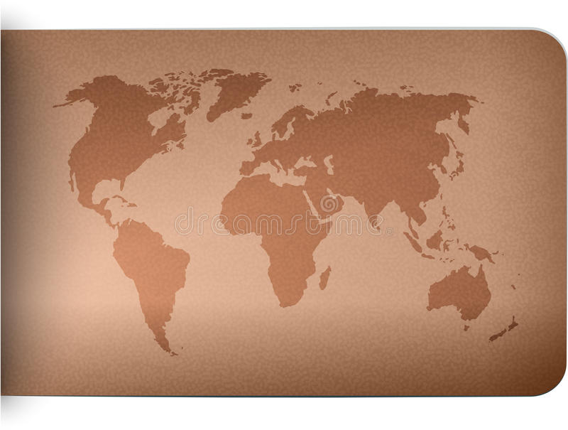 World map on leather texture background stock vector illustration download world map on leather texture background stock vector illustration of navigation oceans gumiabroncs Gallery
