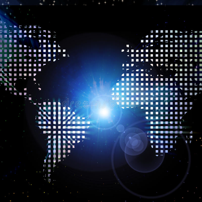 Download World Map Light Stock Image - Image: 12083891