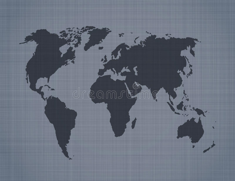 Download World Map On Linen Background Stock Photography - Image: 26542412