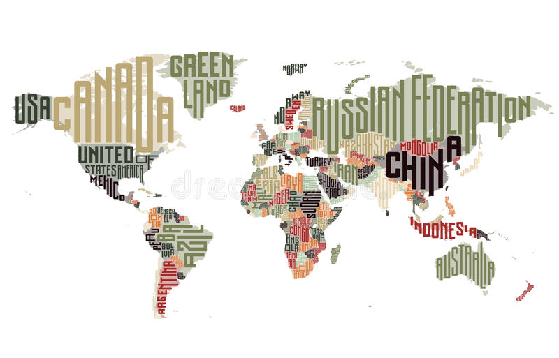 World map made of typographic country names stock vector download world map made of typographic country names stock vector illustration of geography shape gumiabroncs Choice Image