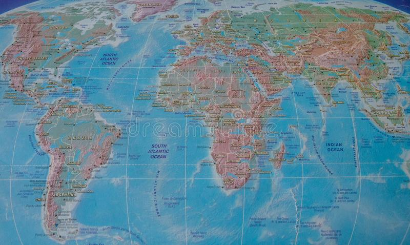 World Map Names Continent Countries Stock Images - Download ...