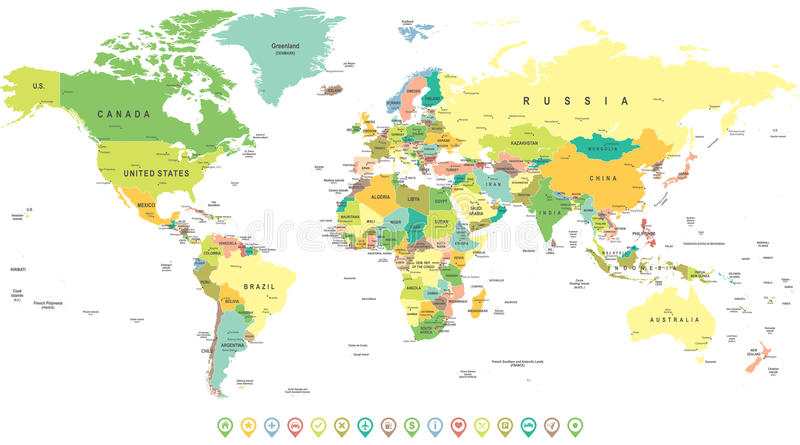 World map and navigation icons illustration stock vector download world map and navigation icons illustration stock vector illustration of computer gumiabroncs Gallery