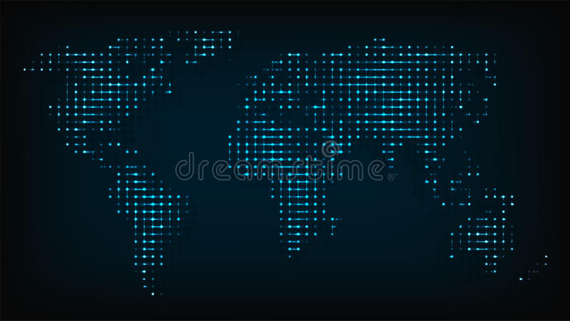 World map from night lights abstract vector illustration stock download world map from night lights abstract vector illustration stock vector illustration of backgrounds publicscrutiny Images