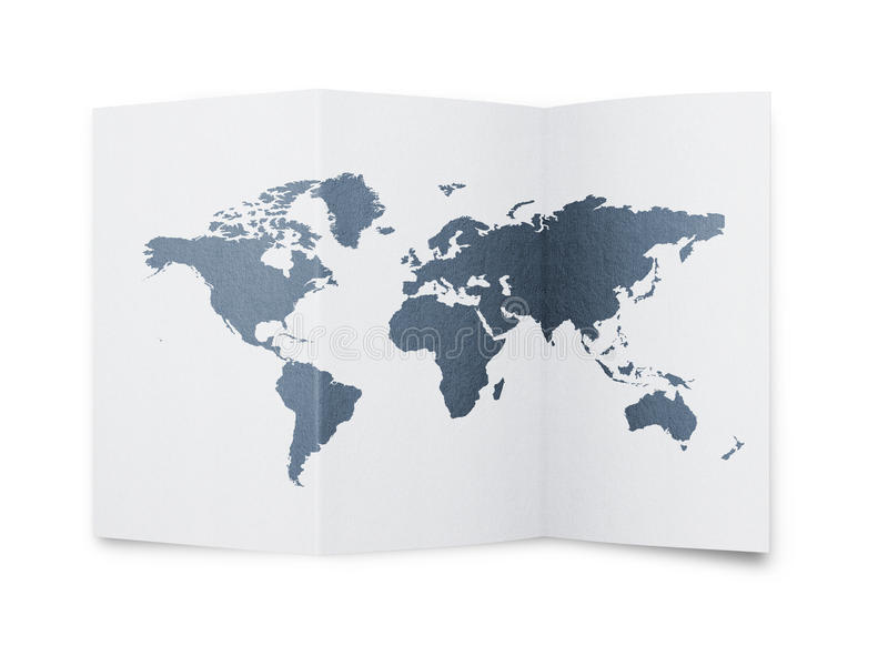 Download World map at paper sheet stock illustration. Image of china - 23342759
