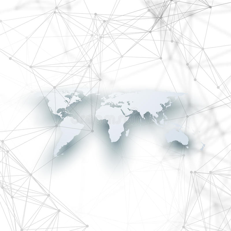World map in perspective with shadow on white abstract global download world map in perspective with shadow on white abstract global network connections geometric gumiabroncs Choice Image